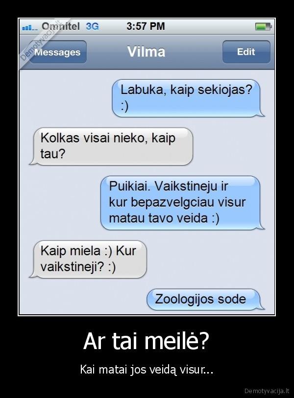 Meiles sms merginai