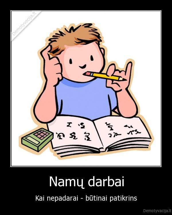 namų darbai